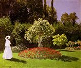Jeanne Marie Lecadre in the Garden, 1866 Art Print