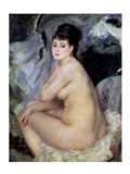 Nude Seated on a Sofa, 1876 Art Print