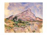 Mont Sainte-Victoire, 1897-98 Art Print