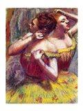 Two Dancers (detail) Art Print