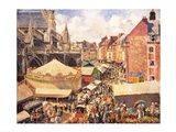 The Fair in Dieppe, Sunny Morning, 1901 Art Print