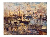 Grand Quai at Havre, 1872 Art Print