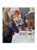 The Luncheon of the Boating Party, 1881 - close up Art Print