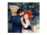 A Dance in the Country, 1883 - upclose Art Print