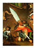 The Last Judgement (Altarpiece): Detail of the Dagger Art Print