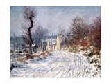 The Road to Giverny, Winter, 1885 Art Print