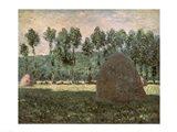 Haystacks near Giverny, c.1884-89 Art Print