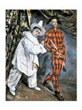 Pierrot and Harlequin Art Print