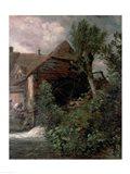 Watermill at Gillingham, Dorset Art Print