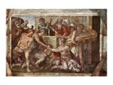 Sistine Chapel Ceiling: Noah After the Flood Art Print