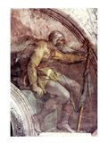Sistine Chapel Ceiling: One of the Ancestors of God Art Print