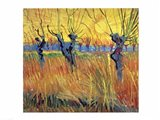 Pollarded Willows and Setting Sun, 1888 Art Print