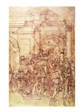 W.29 Sketch of a crowd for a classical scene Art Print