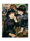 Girls in Black, 1881-82 Art Print