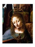Detail of the Head of the Virgin, from The Virgin of the Rocks Art Print