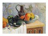 Teiera, Brocca e Frutta, 1899 Art Print