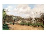 View from Louveciennes, 1869-70 Art Print