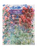 The House at Giverny under the Roses, 1925 Art Print