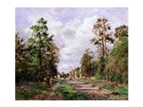 The road to Louveciennes at the edge of the wood, 1871 Art Print