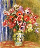 Vase of Tulips and Anemones, c.1895 Art Print
