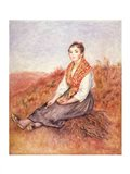 Woman with a bundle of firewood, c.1882 Art Print