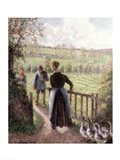 The Woman with the Geese, 1895 Art Print