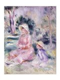 Madame Renoir and her son Pierre, 1890 Art Print