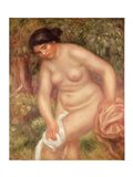 Bather drying herself, 1895 Art Print