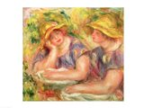 Two women in blue blouses, 1919 Art Print