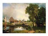 Dedham Lock and Mill, 1820 Art Print