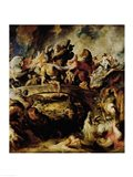 Battle of the Amazons and Greeks Art Print