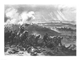 Battle of Gettysburg - Final Charge of the Union Forces at Cemetery Hill, 1863 Art Print