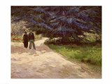Couple in the Park, Arles, 1888 Art Print