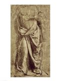 Drapery Study for a Standing Figure Seen from the Front Art Print
