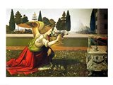 Angel Gabriel, from the Annunciation, 1472-75 Art Print
