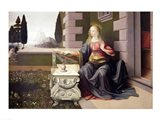 Virgin Mary, from the Annunciation, 1472-75 Art Print