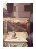 Detail of the Virgin Mary, from the Annunciation Art Print