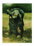 Peasant Woman Digging, 1885 Art Print
