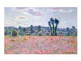 Poppy Field, 1887 Art Print