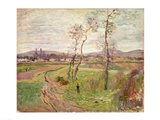 The Plain at Gennevilliers, 1877 Art Print