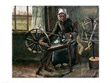 Peasant Woman Winding Bobbins Art Print