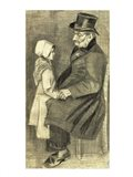 Seated Man with his Daughter, 1882 Art Print