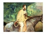 Portrait of Gillaudin on a horse Art Print
