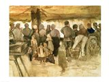 The Potato Market, 1882 Art Print