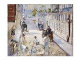 The Rue Mosnier with Workmen, 1878 Art Print