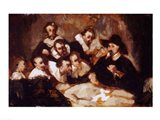 The Anatomy Lesson, after Rembrandt, c.1856 Art Print