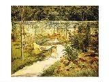The Bench, The Garden at Versailles Art Print