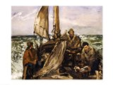 The Workers of the Sea, 1873 Art Print
