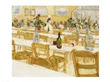 A Restaurant Interior, 1887-88 Art Print