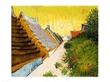 Farmhouses at Saintes-Maries, June 1888 Art Print